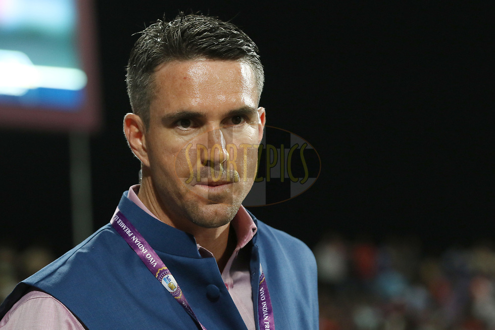 Former Cricketer Kvin Pietersen during match 2 of the Vivo 2017 Indian Premier League between the Rising Pune Supergiants and the Mumbai Indians held at the MCA Pune International Cricket Stadium in Pune, India on the 6th April 2017<br /> <br /> Photo by Faheem Hussain - IPL - Sportzpics