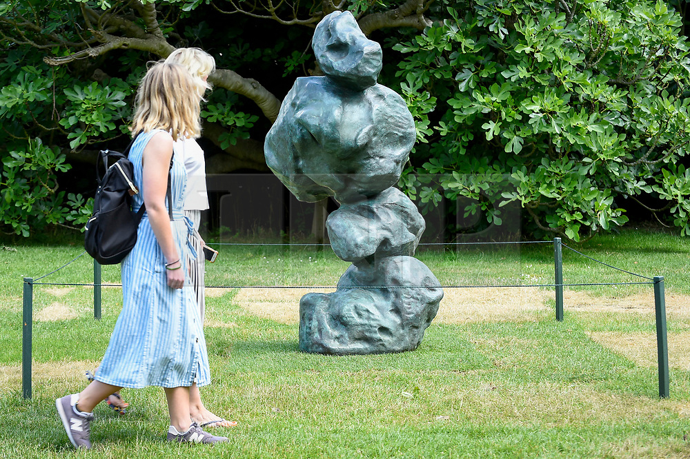 "© Licensed to London News Pictures. 03/07/2019. LONDON, UK. ""Untitled"", 2011, by Ma Desheng. Frieze Sculpture opens in Regent's Park, London's largest free display of outdoor art.  Works from 23 international artists are on display 3 July to 6 October 2019.  Photo credit: Stephen Chung/LNP"