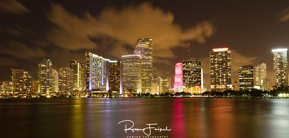 I spent all day exploring downtown Miami but what I really wanted was a pano of the cityscape.  From the shoreline I eyed the small island occupied by the cruise lines and thought it the best view to get this shot.  We drove over thinking we would just park anywhere, we were wrong.  All paths led us to specific cruise lines parking lots for passengers only.  Finally, we just cut over to one of the employee lots and I jumped out set up the camera and tried to keep the wind from blowing the shot.