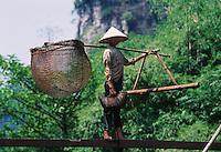 Fishing for mud crabs in Ninh Binh, Northern Vietnam