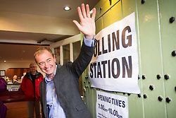 © Licensed to London News Pictures. 08/06/2017. Kendal UK. Liberal Democrat leader Tim Farron casting his vote this morning at the Stonecross Manor Hotel in Kendal in his Westmorland & Lonsdale constituency. Photo credit: Andrew McCaren/LNP