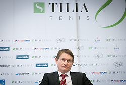 Andrej Kavsek, general manager of Tilia Insurance during press conference of TZS - Slovene Tennis Association after the end of the season 2012/13, on December 3, 2013 in BTC, Ljubljana, Slovenia. Photo by Vid Ponikvar / Sportida