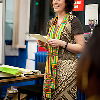 Picture Shows : Principal Teacher Keri Reid..Muthill Primary School, Muthill by Crieff, Perthshire, Scotland stage an evening of international cooking to celebrate their joint work with a partner school Juliet Johnson School, Ghana which is visiting this week. They have strong links with the Ghanians and have helped to raise money to contribute toward funding a new school bus.   Feature for TESS..Picture Drew Farrell Tel : 07721-735041