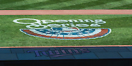 """The """"Opening Series"""" logo on the field during Opening Day 2013 before a game between the Minnesota Twins and Detroit Tigers on April 1, 2013 at Target Field in Minneapolis, Minnesota.  The Tigers defeated the Twins 4 to 2.  Photo: Ben Krause"""