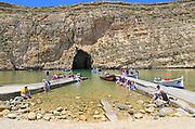 The Inland Sea tourist attraction, Dwerja Bay, island of Gozo, Malta