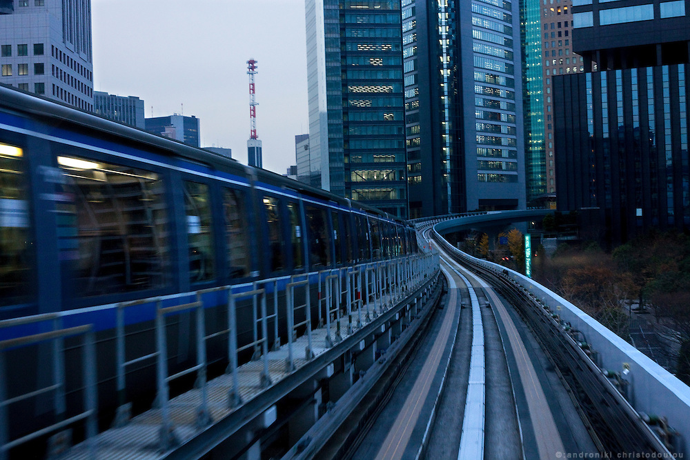 Yurikamome an automated guideway transit train that operates in Odaiba area of Tokyo
