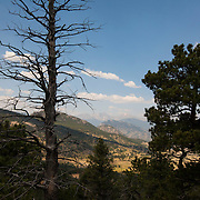 Hiking into our cliff camping site in Estes Park, Colorado. Lead by climbing instructor Brett