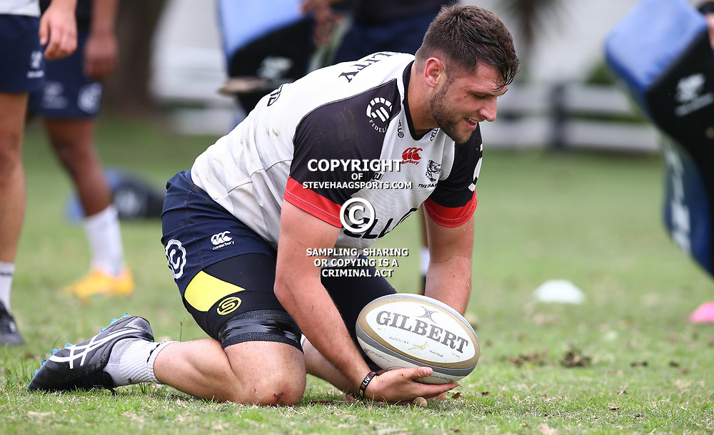 DURBAN, SOUTH AFRICA - AUGUST 22: Ruan Botha during the Cell C Sharks training session at Growthpoint Kings Park on August 22, 2017 in Durban, South Africa. (Photo by Steve Haag/Gallo Images)
