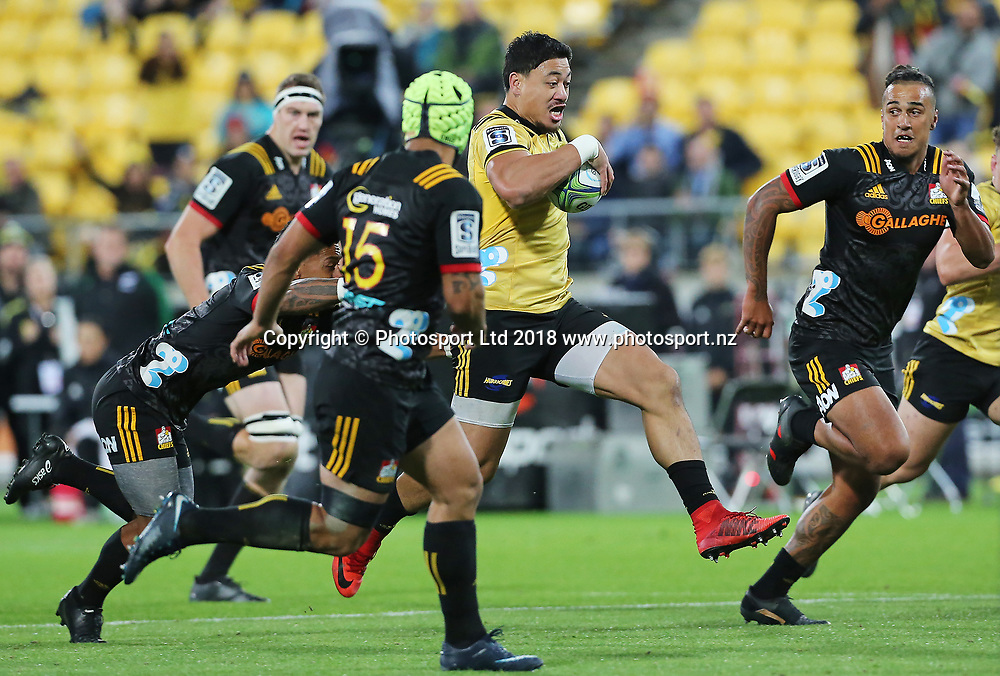 Hurricanes Ben Lam. Hurricanes V Chiefs. Super Rugby round 8 at Westpac Stadium, Wellington. 13th April 2018. © Copyright Photo: Grant Down / www.photosport.nz
