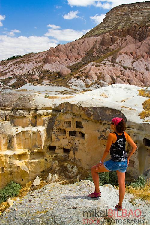 Troglodyte architecture. Cavusin. Cappadocia. Turkey