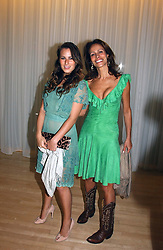 Left to right, CHARLOTTE DELLAL and her mother ANDREA DELLAL at a party at The Sanderson Hotel, Bernnnnners Street, London in aid of Sargent Cancer Care for Children on 7th July 2004.