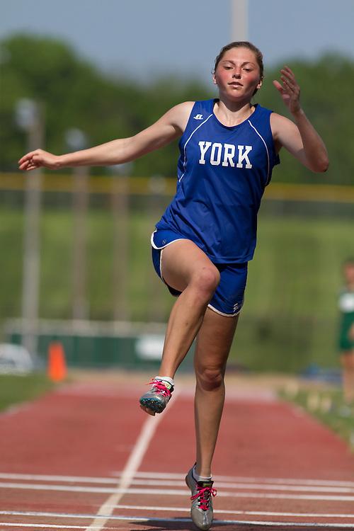 girls triple jump, Maine State Track & FIeld Meet - Class B