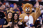 Chicago Bears fans in Halloween night costumes wave during the Chicago Bears 2016 NFL week 8 regular season football game against the Minnesota Vikings on Monday, Oct. 31, 2016 in Chicago. The Bears won the game 20-10. (©Paul Anthony Spinelli)