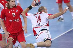 Mariusz Jurasik (14) of Poland during 21st Men's World Handball Championship 2009 Bronze medal match between National teams of Poland and Denmark, on February 1, 2009, in Arena Zagreb, Zagreb, Croatia.  (Photo by Vid Ponikvar / Sportida)