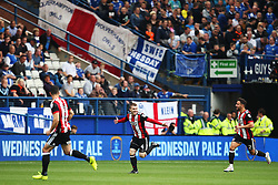 John Fleck of Sheffield United celebrates after scoring his sides first goal  - Mandatory by-line:  Matt McNulty/JMP - 24/09/2017 - FOOTBALL - Hillsborough - Sheffield, England - Sheffield Wednesday v Sheffield United - Sky Bet Championship