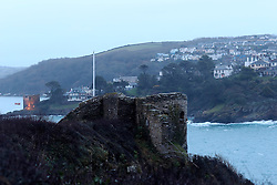 UK ENGLAND FOWEY 19FEB15 - General view of Fowey from St. Catherine's Castle, Cornwall, England. Fowey, a small fishing and harbour village was the living place of famous English writer Daphne Du Maurier and many of her novels are based here.<br /> <br /> jre/Photo by Jiri Rezac<br /> <br /> © Jiri Rezac 2015