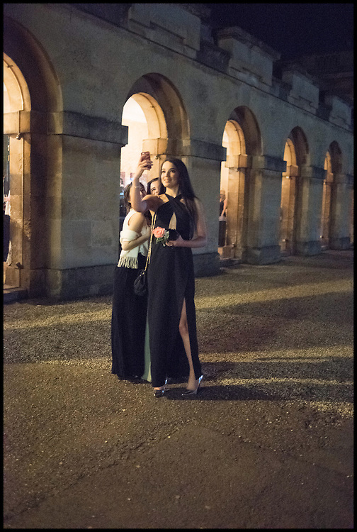 EMMA JARVIS; FLORENCE WOOD; CLARA SHEPHERD, Oxford University Polo club Ball, Blenheim Palace. Woodstock. 6 March 2015