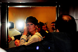 Paris Hilton arrives in the VIP area of Dubai International Airport to film her new reality show Paris Hilton's Dubai BFF, June 16th, 2009. Photo By Andrew Parsons/i-Images