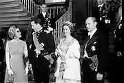 King Baudouin and Queen Fabiola visit the National Museum, attend State Dinner.15.05.1968