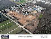 An aerial photo shows the Sterling High School campus in February 2015.