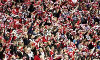 Fotball<br /> Tippeligaen Eliteserien<br /> 15.09.08<br /> Ullevaal Stadion<br /> Vålerenga VIF - Lyn<br /> Supportere - skjerf - Bastionen<br /> Foto - Kasper Wikestad