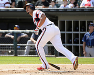 CHICAGO - SEPTEMBER 03:  Jose Abreu #79 of the Chicago White Sox hits a home run against the Tampa Bay Rays on September 3, 2017 at Guaranteed Rate Field in Chicago, Illinois.  (Photo by Ron Vesely) Subject:   Jose Abreu