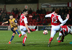 Jamie Paterson of Bristol City fires a shot at goal  - Mandatory by-line: Matt McNulty/JMP - 17/01/2017 - FOOTBALL - Highbury Stadium - Fleetwood,  - Fleetwood Town v Bristol City - Emirates FA Cup Third Round Replay