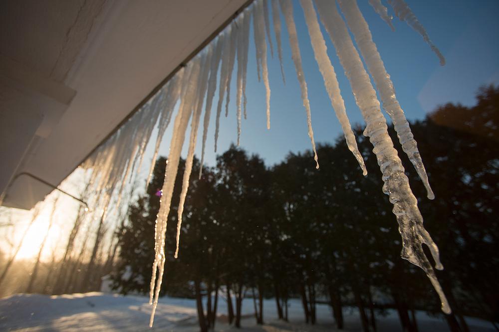 Winter in Brandon, Vermont.