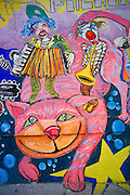 Cheshire Cat graffiti, Quito, Ecuador