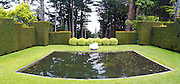 Panoramic view of the Larnach Castle Gardens, near Portobello, on the Otago Peninsula, near Dunedin, Otago, New Zealand