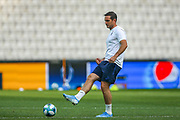 Chelsea Manager Frank Lampard during the Chelsea Training session ahead of the 2019 UEFA Super Cup Final between Liverpool FC and Chelsea FC at BJK Vodafone Park, Istanbul, Turkey on 13 August 2019.