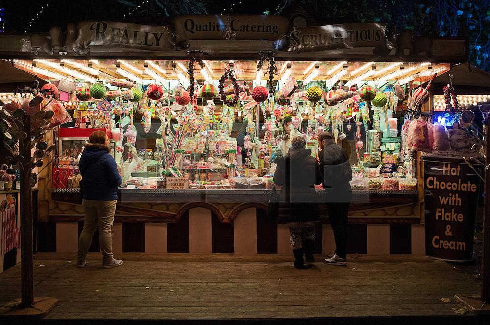 © Licensed to London News Pictures. 22/12/2013. London, United Kingdom. Views odfthe amusement Christmas park in Hyde Park ' Winter  Wonderland '. PICTURES TAKEN ON: 24/11/2013.  Photo credit : Andrea Baldo/LNP