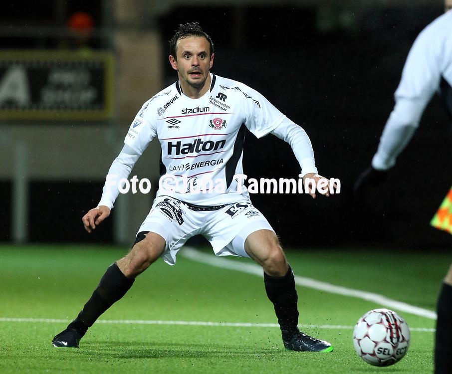 5.4.2017, OmaSP Stadion, Sein&auml;joki.<br /> Veikkausliiga 2017.<br /> Sein&auml;joen Jalkapallokerho - FC Lahti.<br /> Drilon Shala - FC Lahti