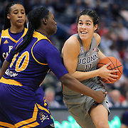 HARTFORD, CONNECTICUT- JANUARY 4: Kia Nurse #11 of the Connecticut Huskies drives to the basket defended by Gabrielle Holston #40 of the East Carolina Lady Pirates during the UConn Huskies Vs East Carolina Pirates, NCAA Women's Basketball game on January 4th, 2017 at the XL Center, Hartford, Connecticut. (Photo by Tim Clayton/Corbis via Getty Images)