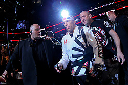 Montreal, Quebec, CAN - November 17, 2012: UFC Welterweight Champion Georges St. Pierre walks to the octagon for his bout against  Interim UFC Welterweight Champion Carlos Condit at UFC 154 at the Bell Centre in Montreal, Quebec, Canada. St. Pierre won via unanimous decision.