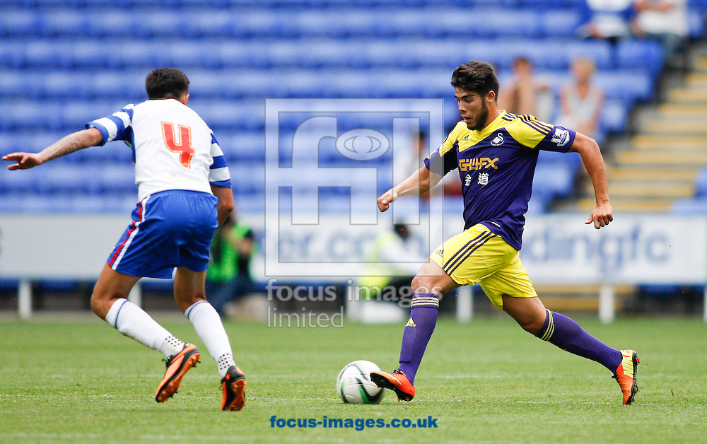 Picture by Andrew Tobin/Focus Images Ltd +44 7710 761829<br /> 27/07/2013<br />  Alejandro Pozuelo of Swansea City in action during the Pre Season Friendly match at the Madejski Stadium, Reading.