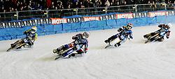 13.03.2016, Assen, BEL, FIM Eisspeedway Gladiators, Assen, im Bild 6 Dmitry Koltakov (RUS), Niklas Kallin Svensson (SWE), Max Niedermaier (GER) // during the Astana Expo FIM Ice Speedway Gladiators World Championship in Assen, Belgium on 2016/03/13. EXPA Pictures &copy; 2016, PhotoCredit: EXPA/ Eibner-Pressefoto/ Stiefel<br /> <br /> *****ATTENTION - OUT of GER*****