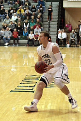 01 March 2014:  Jordan Nelson during an NCAA mens division 3 CCIW  Championship basketball game between the Wheaton Thunder and the Illinois Wesleyan Titans in Shirk Center, Bloomington IL
