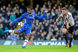 Michy Batshuayi of Chelsea miss kicks a shot on goal - Mandatory by-line: Jason Brown/JMP - 28/01/2017 - FOOTBALL - Stamford Bridge - London, England - Chelsea v Brentford - Emirates FA Cup fourth round