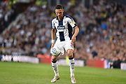 West Bromwich Albion defender Kieran Gibbs (3) keeps his eyes on the ball during the EFL Sky Bet Championship play-off second leg match between West Bromwich Albion and Aston Villa at The Hawthorns, West Bromwich, England on 14 May 2019.