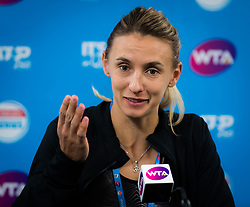 January 5, 2019 - Brisbane, AUSTRALIA - Lesia Tsurenko of the Ukraine talks to the media after winning her semifinal at the 2019 Brisbane International WTA Premier tennis tournament (Credit Image: © AFP7 via ZUMA Wire)