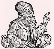 Boethius (Anicius Manlius Severinus - c480-524) Roman philosopher and statesman.  His commentaries on Aristotle and the Neoplatonist philosopher Porphyry became the standard medieval European texts on Logic. Woodcut from 'Liber chronicarum mundi' (Nuremberg Chronicle' by Hartmann Schedel (Nuremberg, 1493).