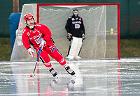 2018-11-11 | Jönköping, Sweden: Jönköping Bandy IF (16) Daren Richardson during the game between Jönköping Bandy IF and Åtvidaberg BK at Råslätts IP ( Photo by: Marcus Vilson | Swe Press Photo )<br /> <br /> Keywords: Råslätts IP, Jönköping, Bandy, Div. 1 Södra, Jönköping Bandy IF, Åtvidaberg BK, Daren Richardson