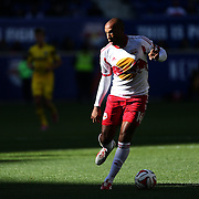 Thierry Henry, New York Red Bulls, in action during the New York Red Bulls Vs Columbus Crew, Major League Soccer regular season match at Red Bull Arena, Harrison, New Jersey. USA. 19th October 2014. Photo Tim Clayton