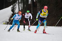 KOVALEVSKYI Anatolii Guide:  MUKSHYN Oleksandr, UKR, KURZ Michael, AUT at the 2014 IPC Nordic Skiing World Cup Finals - Long Distance
