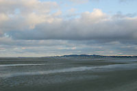 Sandymount Strand looking towards Dun Laoghaire, Dublin, Ireland