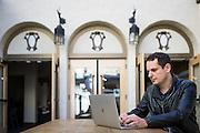 Shortlist CEO Martin Konrad poses for a portrait at HanaHaus in Palo Alto, California, on January 27, 2017. (Stan Olszewski for Silicon Valley Business Journal)