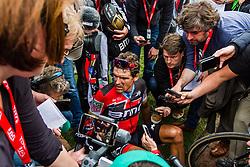 Greg VAN AVERMAET from Belgium of BMC Racing Team finishing 4th after the 2018 Paris-Roubaix race, Velodrome Roubaix, France, 8 April 2018, Photo by Thomas van Bracht / PelotonPhotos.com | All photos usage must carry mandatory copyright credit (Peloton Photos | Thomas van Bracht)