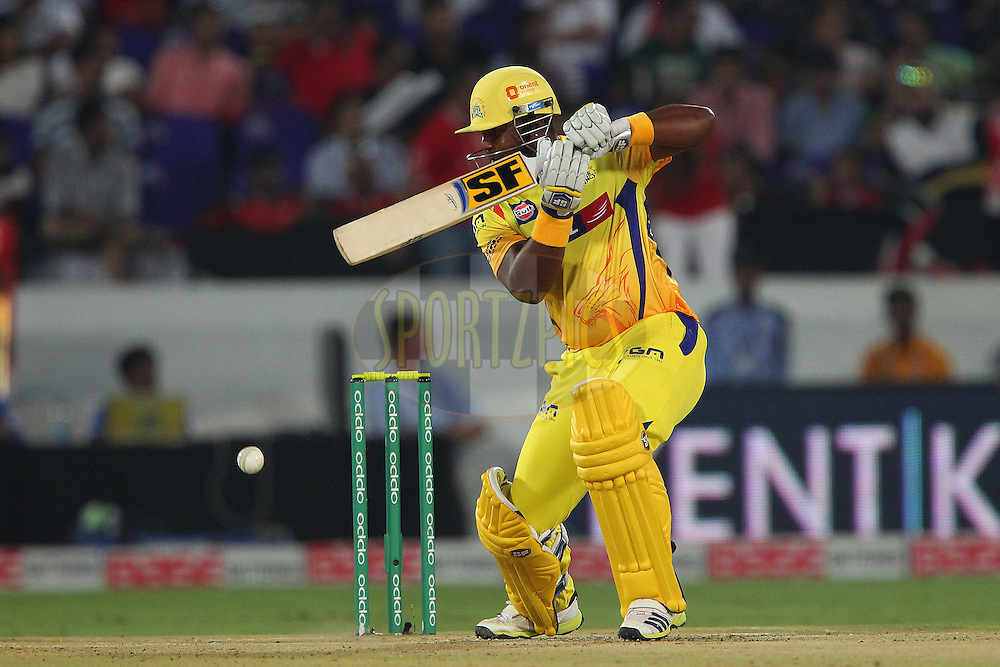 Dwayne SMITH of the Chennai Superkings  during the second semi final match of the Oppo Champions League Twenty20 between the Kings XI Punjab and the Chennai Superkings held at the Rajiv Gandhi Cricket Stadium, Hyderabad, India on the 2nd October 2014<br /> <br /> Photo by:  Ron Gaunt / Sportzpics/ CLT20<br /> <br /> <br /> Image use is subject to the terms and conditions as laid out by the BCCI/ CLT20.  The terms and conditions can be downloaded here:<br /> <br /> http://sportzpics.photoshelter.com/gallery/CLT20-Image-Terms-and-Conditions-2014/G0000IfNJn535VPU/C0000QhhKadWcjYs