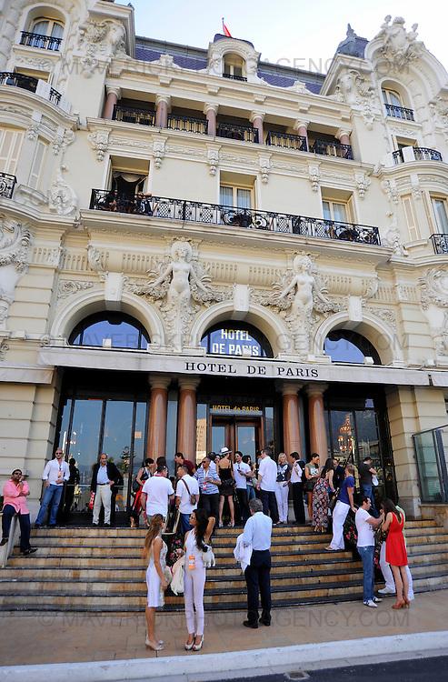 General view of the Hotel de Paris in Monaco, Monte Carlo.